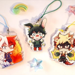 My Hero Academia Clear Acrylic Charms picture
