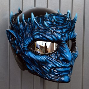 Night King motorcycle helmet picture