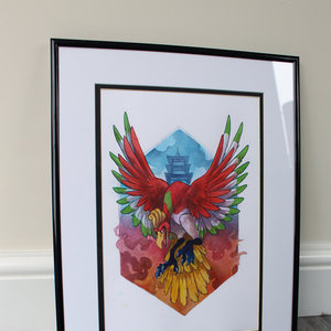 Phoenix, Ho-oh original painting picture