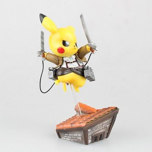 Pikachu cosplaying Attack on Titan picture