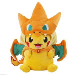 Pikachu cosplaying Mega Charizard Y picture