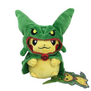 Pikachu plush using Rayquaza poncho picture