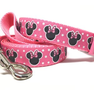 Pink Disney Minnie Dog Collar & Leash set picture