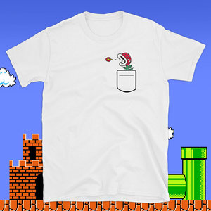 Pocket Fire Piranha Plant t-shirt picture