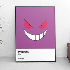 Pokemon Gengar Pantone Swatch Poster picture