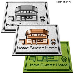 "Pokemon ""Home Sweet Home"" doormat picture"
