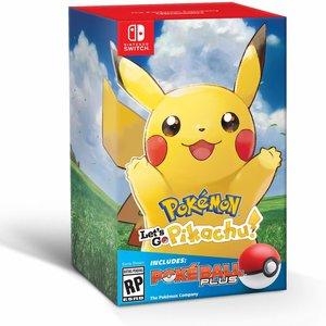 Pokemon Let's Go Pikachu + Poke Ball Plus picture