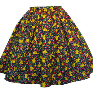 Pokemon Pikachu Floral Skirt - elastic waist multifit picture
