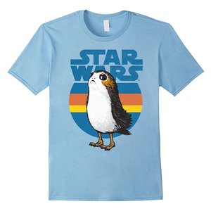 Porg Retro Star Wars Last Jedi T-shirt picture