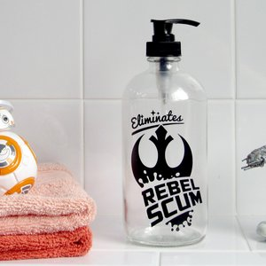 Rebel Scum Glass Soap Dispenser picture