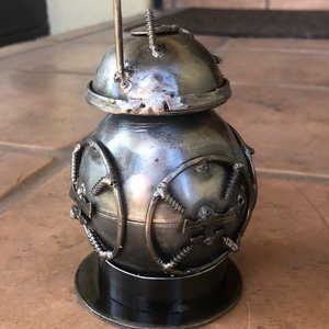 Recycled Scrap Metal Star Wars BB-8 picture