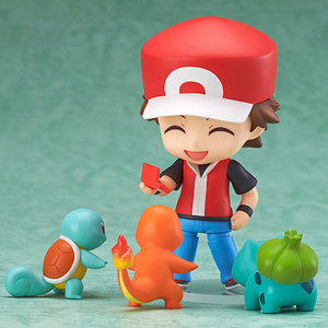 Red, Charmander, Squirtle and Bulbasaur figures picture