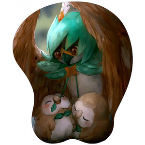 Rowlet and Decidueye 3D mousepad picture