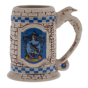 Sculpted Ceramic Ravenclaw Stein Mug Cup picture