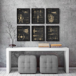 Set of 6 Star Wars prints picture