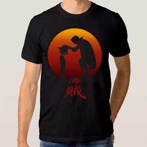 Shanks giving Luffy his hat - One Piece t-shirt picture