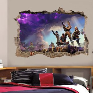 Smashed Broken Wall Fortnite Decal picture