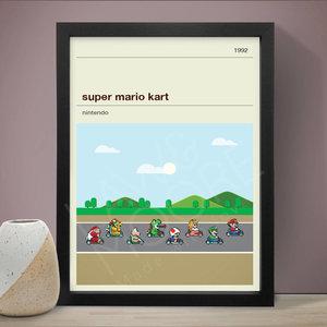 SNES Super Mario Kart Print picture