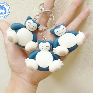 Snorlax - Pokemon clay keychain picture