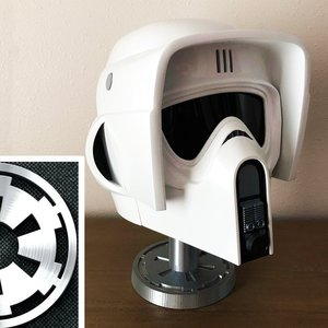 Star Wars Imperial Biker Scout Trooper Helmet picture