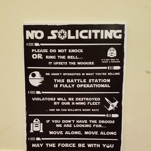Star Wars No Soliciting Sign picture