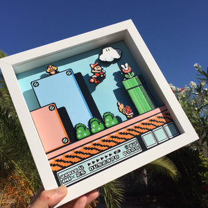 Super Mario Bros 3 3D Shadow Box picture