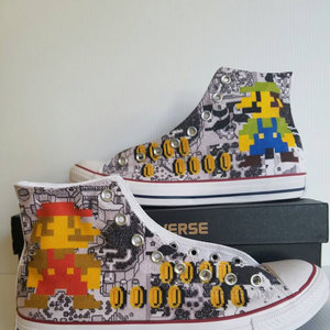 Super Mario Bros Custom Converse All Stars picture