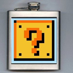 Super Mario Bros Question Mark Box Hip Flask picture