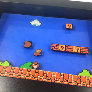 Super Mario Bros Video Game Shadowbox picture