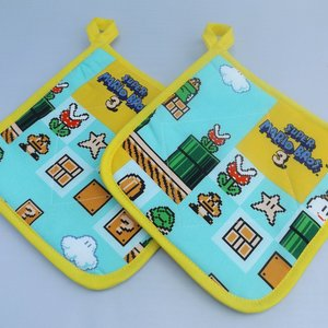 Super Mario Brothers 3 Fabric Pot Holders picture