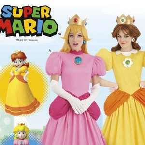 Super Mario Brothers Princess Peach and Daisy costumes picture
