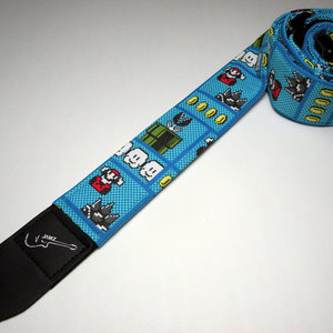 Super Mario double padded guitar strap picture