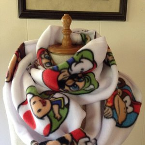 Super Mario Fleece Infinity Scarf picture