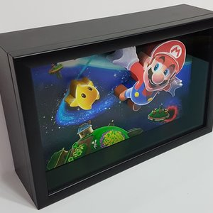 Super Mario Galaxy 3D Art picture