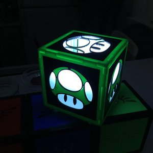 Super Mario Green Mushroom light Box picture