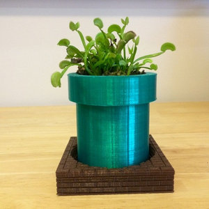 Super Mario Warp Tube Planter and Brick Tray picture