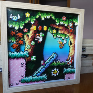 Yoshi's Island - Pixel Art Shadow Box picture