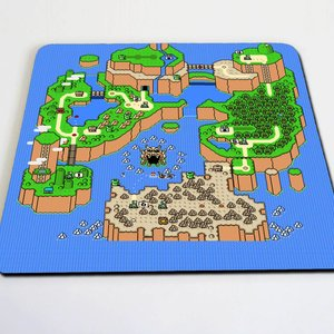 Super Mario World map mousepad picture