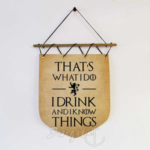 I drink and I know Things - Wall banner picture