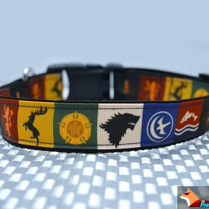 The Iron Pup - Game of Thrones dog collar picture