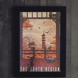 The Johto Region - Pokemon Inspired Travel Poster picture