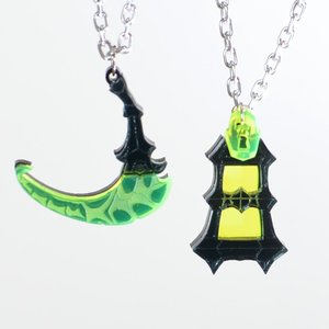 Thresh Scythe and Lantern Necklace or Keychain picture
