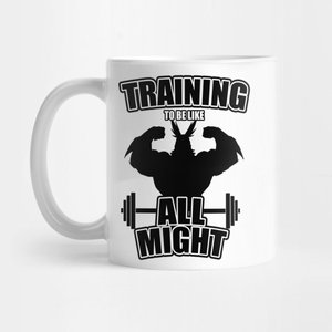 Training to be like All Might mug picture