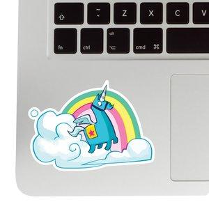 Unicorn Rainbow Sticker - Fortnite decal picture