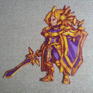 VI and Leona Perler beads picture