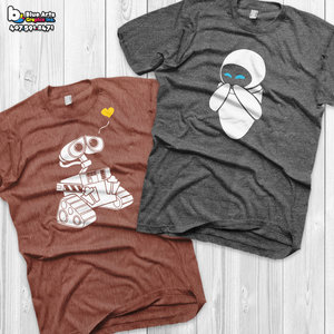 Wall-e and Eve Couple T-shirts picture