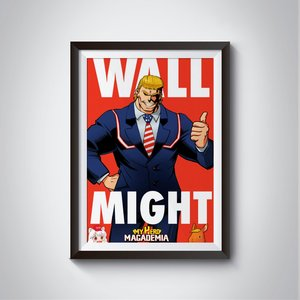 Wall Might parody poster picture