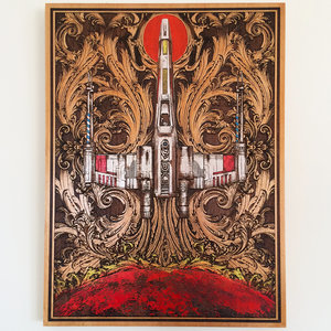 X-Wing - Star Wars Wooden Art picture